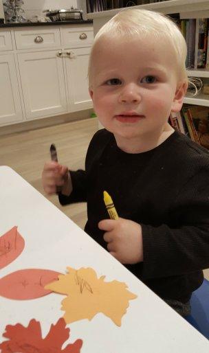 "Little Whitaker ""writing"""